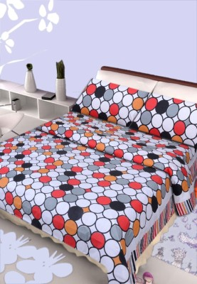 HOME ELITE Cotton Polka Double Bedsheet