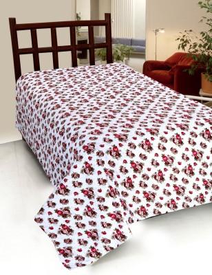 Home Castle Cotton Floral Single Bedsheet