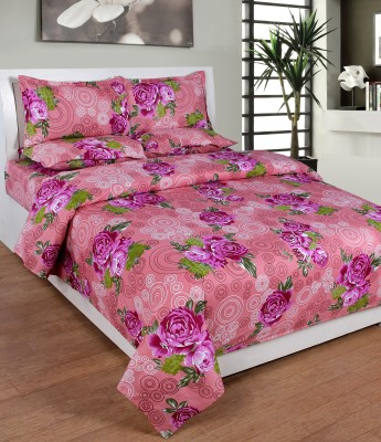 countingbeds Cotton Floral King sized Double Bedsheet