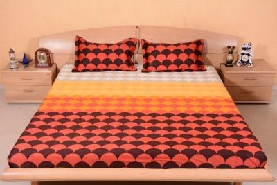 Ctm Textile Mills Satin Printed Double Bedsheet