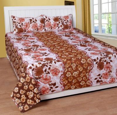 BSB Trendz Cotton 3D Printed Double Bedsheet