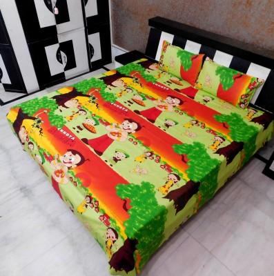 Indiano Cotton Cartoon Double Bedsheet
