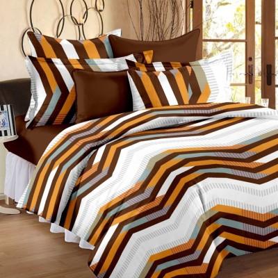 Queen Cotton Cotton Striped Double Bedsheet