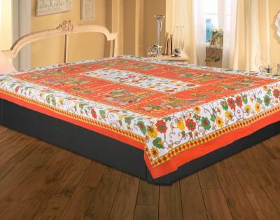 Rajasthan Crafts Cotton Floral Single Bedsheet