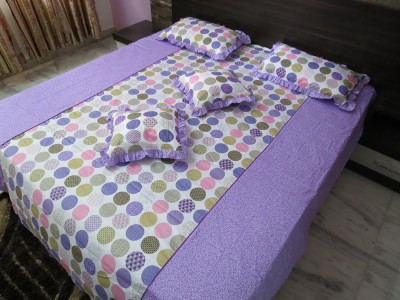 Deluxe Cotton Polka Double Bedsheet