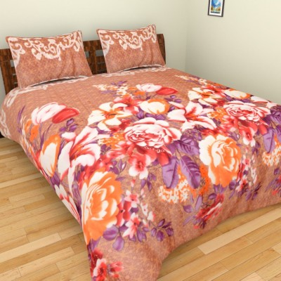 Abhomedecor Polyester Floral Double Bedsheet