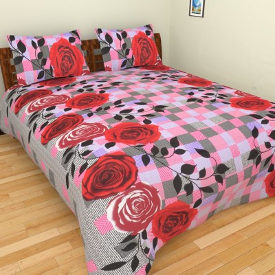 The Handloom Store Cotton Floral King sized Double Bedsheet