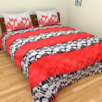 Bichauna by Creative Portico Cotton Floral Double Bedsheet