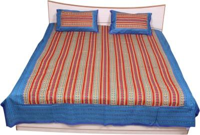 Rama Cotton Striped Double Bedsheet