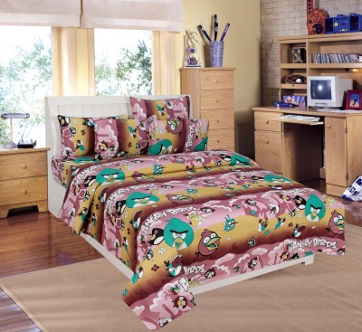 countingbeds Cotton Cartoon Double Bedsheet