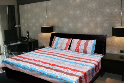 Angel homes Polycotton Printed Double Bedsheet