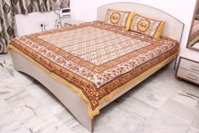 KRISHNAA TRADE FAB Cotton Printed Double Bedsheet
