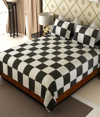 Handloom Times Cotton Checkered Double Bedsheet