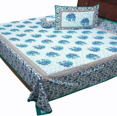 Polkakart Cotton Printed Double Bedsheet