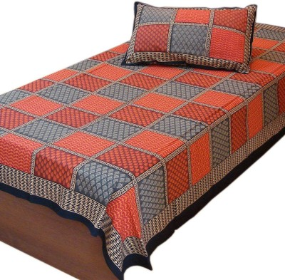 Cat Eye Export Cotton Checkered Single Bedsheet