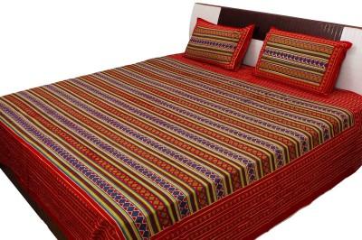Indigocart Cotton Printed Double Bedsheet