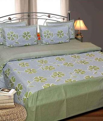 Handloomhub Cotton Floral Double Bedsheet