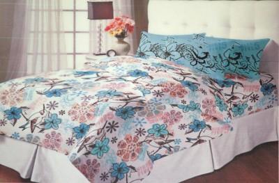 Encore Lifestyle Cotton Floral Double Bedsheet(1 Bedsheet, 2 Pillow Covers, Multicolor)