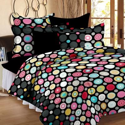 Bedspun Cotton Polka Double Bedsheet