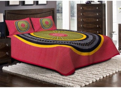 shop jaipuri cotton rajasthani Cotton Floral Double Bedsheet