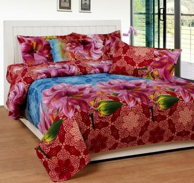 La Elite Polycotton Floral Queen sized Double Bedsheet