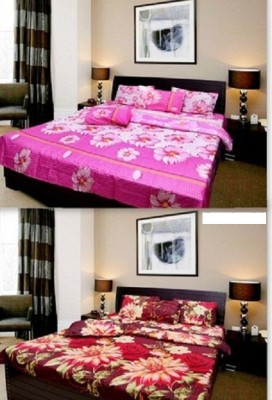 Krishna Décor Movers Cotton Floral Double Bedsheet