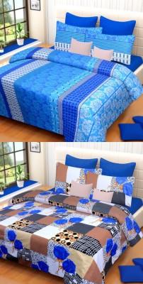 Brand Decor Cotton Checkered Double Bedsheet