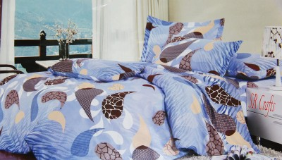 SR Crafts Cotton Abstract Double Bedsheet