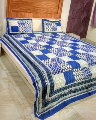MARUDHARA Cotton Printed Double Bedsheet