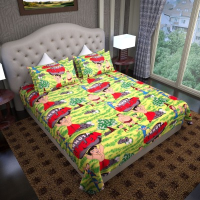 Graffiti Home Cotton Floral Queen sized Double Bedsheet