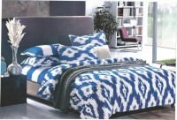 Bed Sheet Cotton Abstract Double Bedsheet(1 Bed Sheet With 2 Pillow Cover, Blue) best price on Flipkart @ Rs. 1099