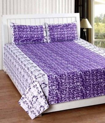 SHIVKIRPA Cotton Abstract Double Bedsheet