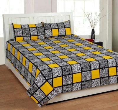 JaiTulsi Cotton 3D Printed Double Bedsheet