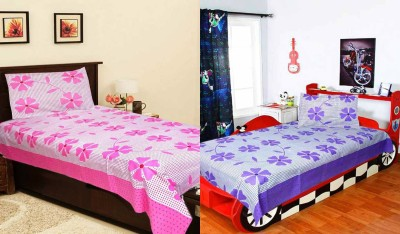 Decor Vatika Cotton Floral Single Bedsheet