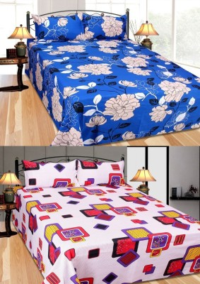 Furnishing Zone Cotton Floral Double Bedsheet
