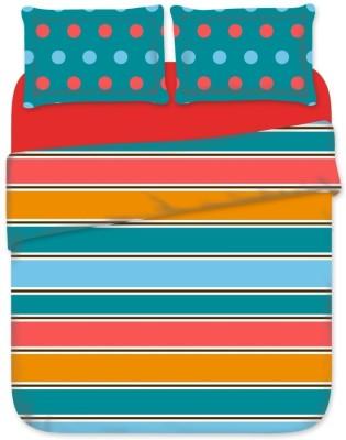 Birla Century Cotton Striped Double Bedsheet