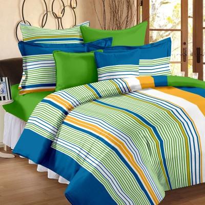 Bedspun Cotton Striped Double Bedsheet