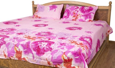 Siyas Collection Polycotton Floral Double Bedsheet