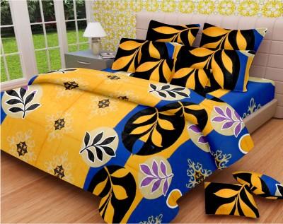 Snuggles Cotton Floral Double Bedsheet