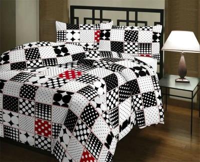 Balaji Creations Geometric Double Quilts & Comforters Black, White
