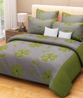 Vk Cotton Floral Double Bedsheet