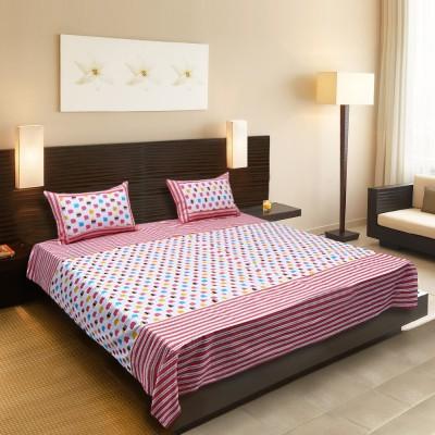 Spree Cotton Polka Double Bedsheet