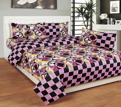 Excel Bazaar Cotton Abstract Double Bedsheet