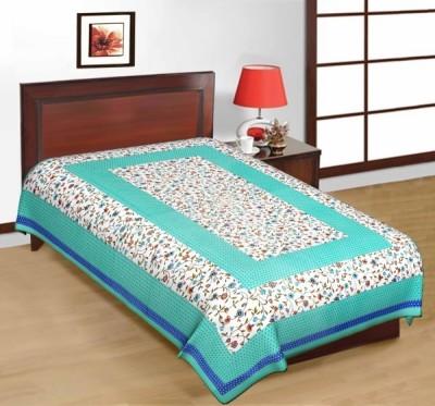 AS42 Cotton Floral Single Bedsheet