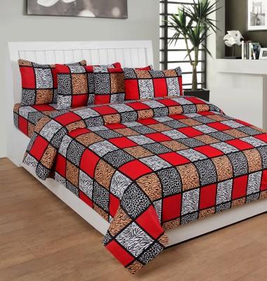 Saluja Enterprises Cotton Checkered Double Bedsheet
