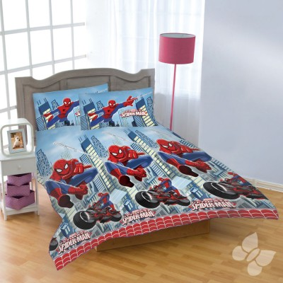 Uber Urban Polyester Cartoon Double Bedsheet