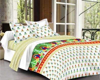 Factorywala Cotton Printed Single Bedsheet