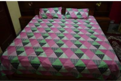Balaji Handloom Cotton Geometric Double Bedsheet