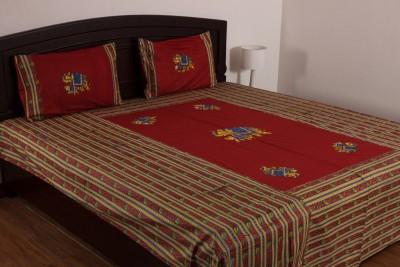 Vivid Rajasthan Cotton Animal Double Bedsheet