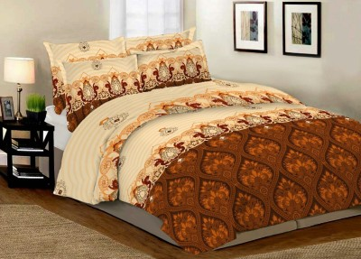 Angiela Home Fab Cotton Floral Double Bedsheet